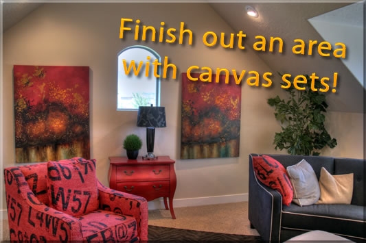 Photos to Canvas, matching canvas decorative prints